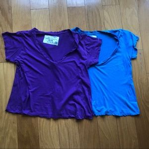 Set of 2 Loomstate Organic Cotton V Neck Tees